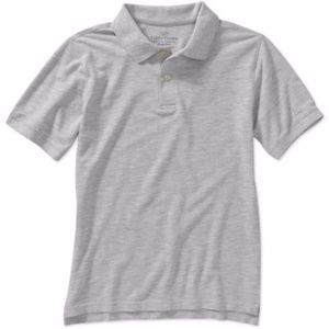 Boy's Faded Glory Grey Polo Sz L